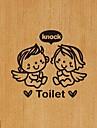 vägg klistermärken modernt badrum pvc väggdekaler änglar knock toaletten