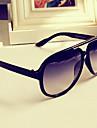 j&x anti uv stora metallram solglasögon (svart)