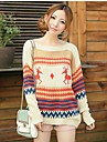 Women's Round Neck Long Sleeve Loose Bottoming Knit Pullover