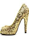 Les chaussures des femmes peep toe pompes talon aiguille chaussures assorties embrayages sac plus de couleurs disponibles