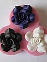trois fleurs cuisson fondant gâteau de bonbons de chocolat moule, l10.5cm * w10cm * h1.9cm