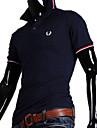 Shirts REVERIE UOMO coreean stil rochie silm cu maneci scurte tricou cu guler Man Polo