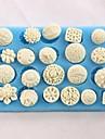 knappar formade bakning fondant tårta choclate godis mögel, l12.8cm * w7.5cm * h1.2cm