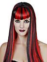 Cosplay Peruker Dronning Sagolikt Festival/högtid Halloweenkostymer Röd Blå Svart/Vit Enfärgat Peruk Halloween Karnival Kvinna