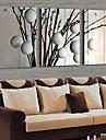 LED-kanvaskonst Blommig/Botanisk Traditionellt Klassisk,Tre paneler Horisontell Målning väggdekor For Hem-dekoration