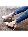 Chaussures Femme - Bureau & Travail / Habillé / Soirée & Evénement - Noir / Blanc - Talon Aiguille - Talons / Bout Pointu / Bout Fermé -