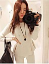 Women's Round Neck Long Sleeve Knit Pullover bottoming Sweater