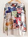 Femei Vintage / Casual / Imprimeu / Drăguț(e) Pijamale Manșon Lung Plover Bumbac / In / Altele Subțire