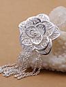 vilin argent collier pendentif fleur des femmes