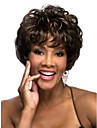 Deep Brown Curly Fashion Woman's Short Wig
