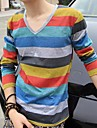 Men's Colours V-Neck Stripe Long Sleeve T-Shirts