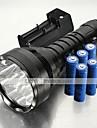 Trustfire® LED-Ficklampor / Ficklampor LED 12000 Lumen 5 Läge XM-L2 T6 18650Vattentät / Laddningsbar / Stöttålig / Greppvänlig / Strike