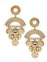 cercle d'or de déclaration pendentif boucles d'oreilles viva femmes