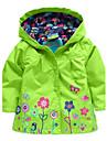 Girl'S Lovely Flowers Hooded Jacket