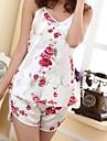 Women's Sexy White Rose Supporter Pajama