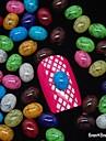 100pcs couleur de mélange accessoires dinde ovale en pierre 3D Nail art décoration
