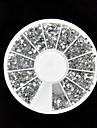 3600 Nail Art 1.5mm tydliga runda strass glitter spets pärlor hjul