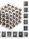 64pcs fullerènes et buckycubes bricolage 5mm blocs magnétiques balles jouets argent