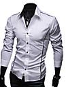 LangTuo Slim Edge Piping Orsaks långärmad tröja (vit)