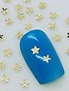 200pcs petite feuille d'érable en métal doré décoration art tranche de l'ongle