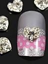10pcs 3d accessoires doigts de bijoux de coeur de strass nail art décoration