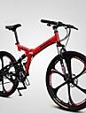 Vélo tout terrain / Vélo pliant Cyclisme 21 Vitesse 26 pouces/700CC Femme SHINING SYS Frein à Double Disque Fourche à SuspensionCadre