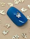 200st dubbelt ihålig fjäril gyllene metall skiva nail art dekoration
