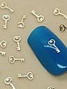 200st berlock nyckel design gyllene metall skiva nail art dekoration