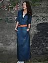rochie dimensiunea plus, denim / Altele Maxi ½ mânecă lungime femei