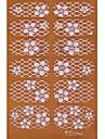 yemannvyou®2x14pcs genomsyrar 3d diamant transparent vit spets nail art ultratunna klistermärken tz062