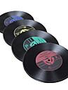 uppsättning av 2 vinylrekord designen motståndskraftigt plastunderlägg, slumpmässig färg
