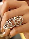 viva kvinnors klippa ut rosenmönster diamantring (storlek justerbara)