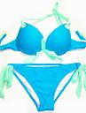 Colorat Bowknot Sexy Beach Wear Push Up Costume de baie Bikini Set