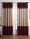 Två paneler Fönster Behandling Nyklassisistisk , Solid Living Room Polyester Material gardiner draperier Hem-dekoration For Fönster