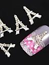 10pcs tour Eiffel Argent accessoires strass bricolage art de la décoration des ongles
