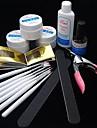 35pcs UV acrylique de gel de finition nettoyant pinceau nail art démarrer kit ensemble de base