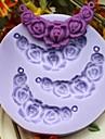 lentilles en forme de fleur bonbons gâteau de bicarbonate de fondant au chocolat moule, l7.3cm * w7.3cm * h1cm