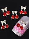10pcs cerise arc bowknot strass alliage 3d nail art décoration