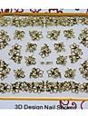 nyaste gyllene metall konst nail manikyr klistermärken dekoration för naglar tå diy