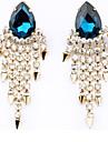 chaudes de vente de diamant perle gland boucles d'oreilles viva femmes