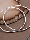 cercle argent plaque d'oreilles des femmes vives