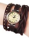 pentru Doamne Ceas La Modă Ceas Brățară Quartz PU Bandă Flori Boem Negru Alb Albastru Roșu Maro Verde