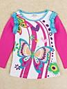 tricou imprimeu floral fete cu paiete maneca lunga copii antumn iarnă teuri imprimare aleator