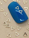 200st ihålig triangel form gyllene metall skiva nagel konst dekoration