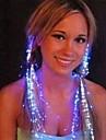 flimmer hårnål optisk fiber utformning plast nattlampa (1st, slumpmässig färg)