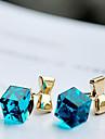 h&d kvinnors Rubiks söt kristall rosett eleganta örhängen