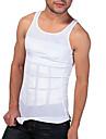 män shaper bantning tank västen snäva underkläder midja buken ritning andningsbar sport upplaga vit ny082