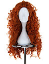 Cosplay Peruker Modig merida Orange Medium / Rak Animé Cosplay Peruker 75 CM Värmebeständigt Fiber Kvinna