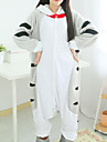 kigurumi Pyjamas Chat / Sweet Home Chi / Cat Cheese Collant/Combinaison Fête / Célébration Pyjamas Animale Halloween Blanc / Gris Mosaïque