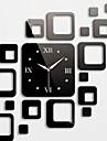 Horloge murale stickers autocollants muraux, des carrés de mode miroir acrylique stickers muraux